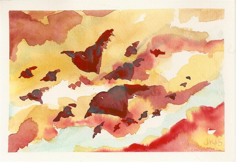 """""""Worried Hearts"""" original fine art by Jean Krueger"""