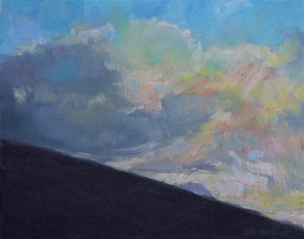"""""""Diamond Head at Daybreak"""" original fine art by Allison Doke"""
