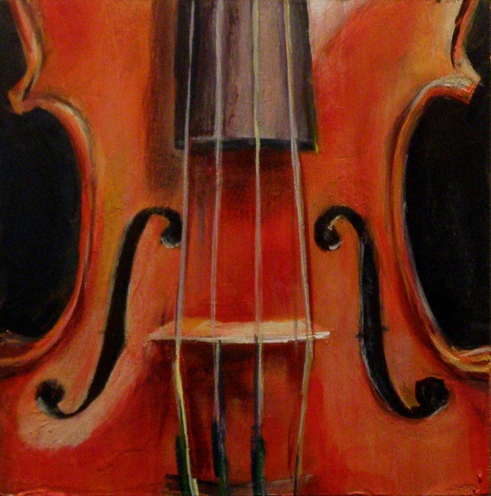"""RED VIOLIN"" original fine art by Brian Cameron"