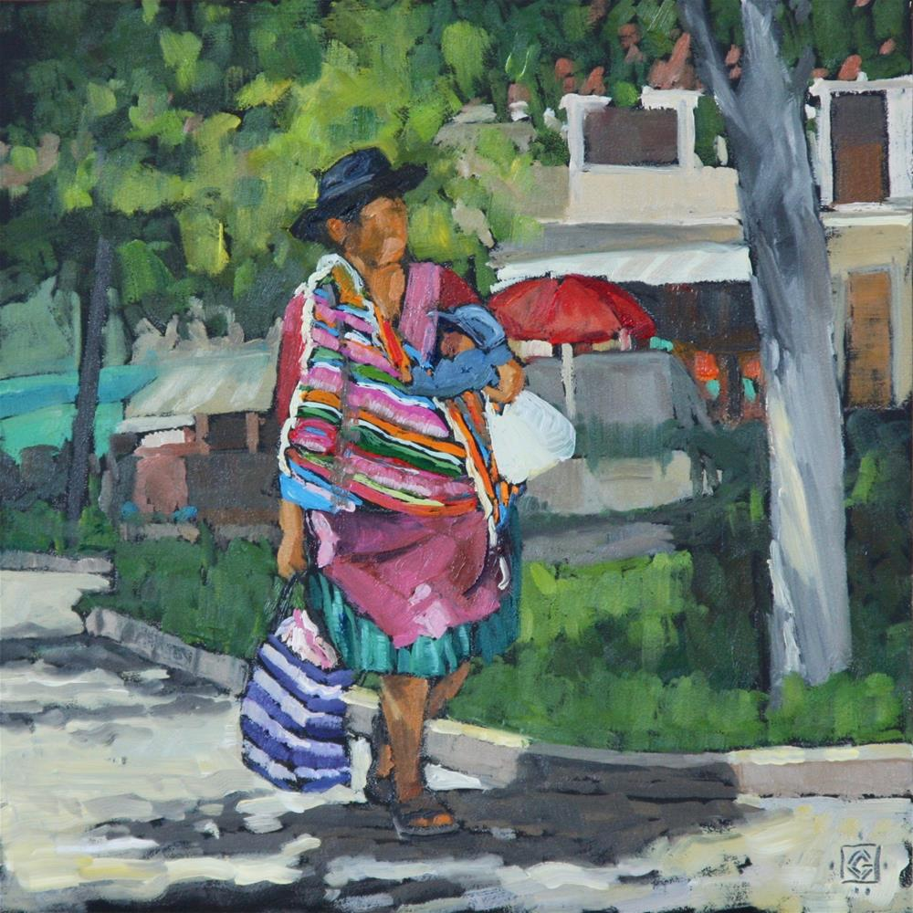 """Market Day I - Tarabuco Bolivia"" original fine art by Carol Granger"