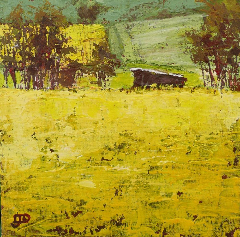 """Canola Road"" original fine art by Leanne Owen"