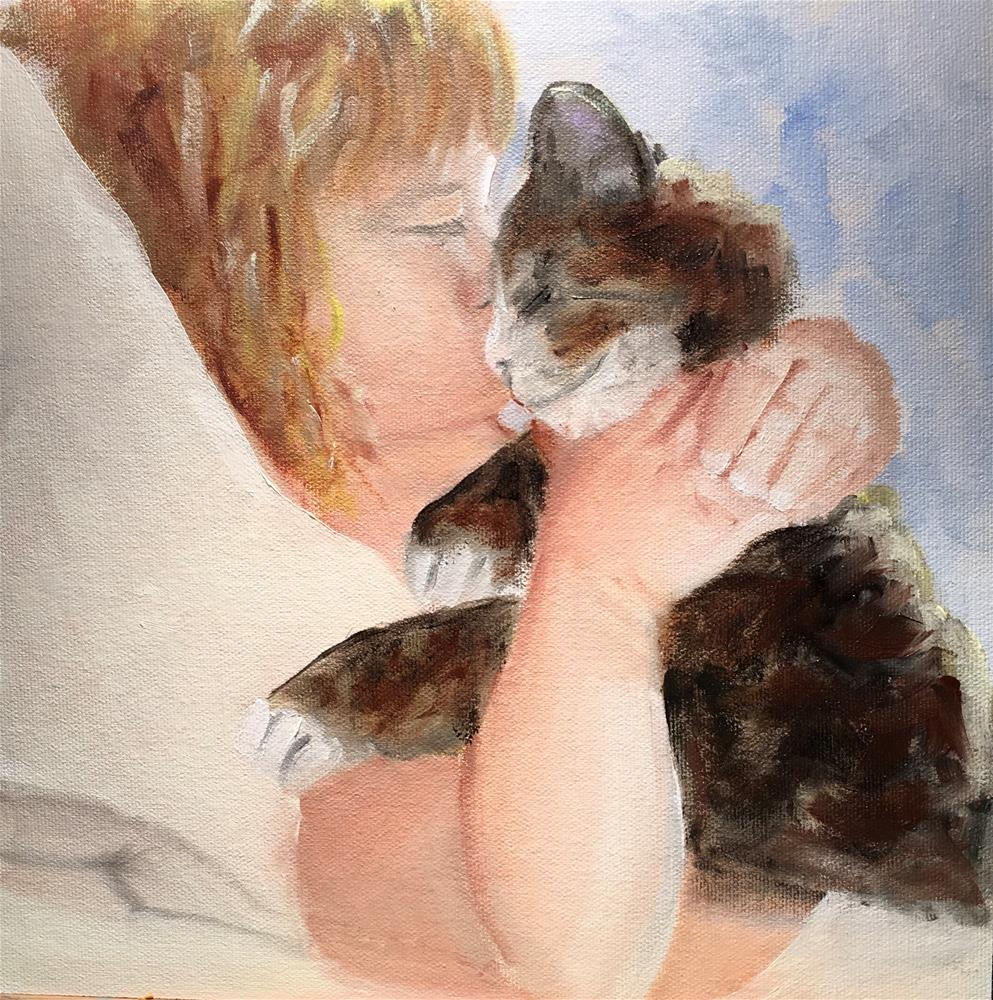 """Good Morning Miss Kitty"" original fine art by Patty Barnes"