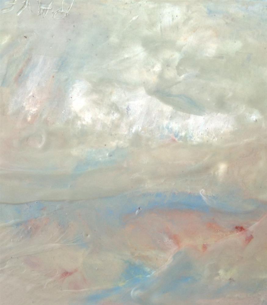 """Abstracted Coastal Scape"" original fine art by Ester Deen"