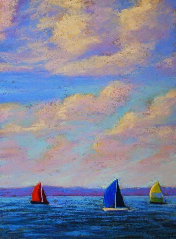 """Racing Clouds"" original fine art by Sharon Lewis"