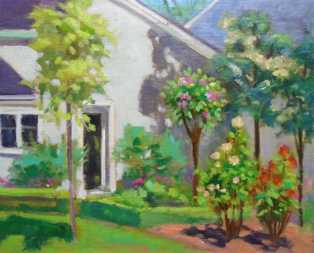 """A Classic Rose Garden"" original fine art by Rhett Regina Owings"