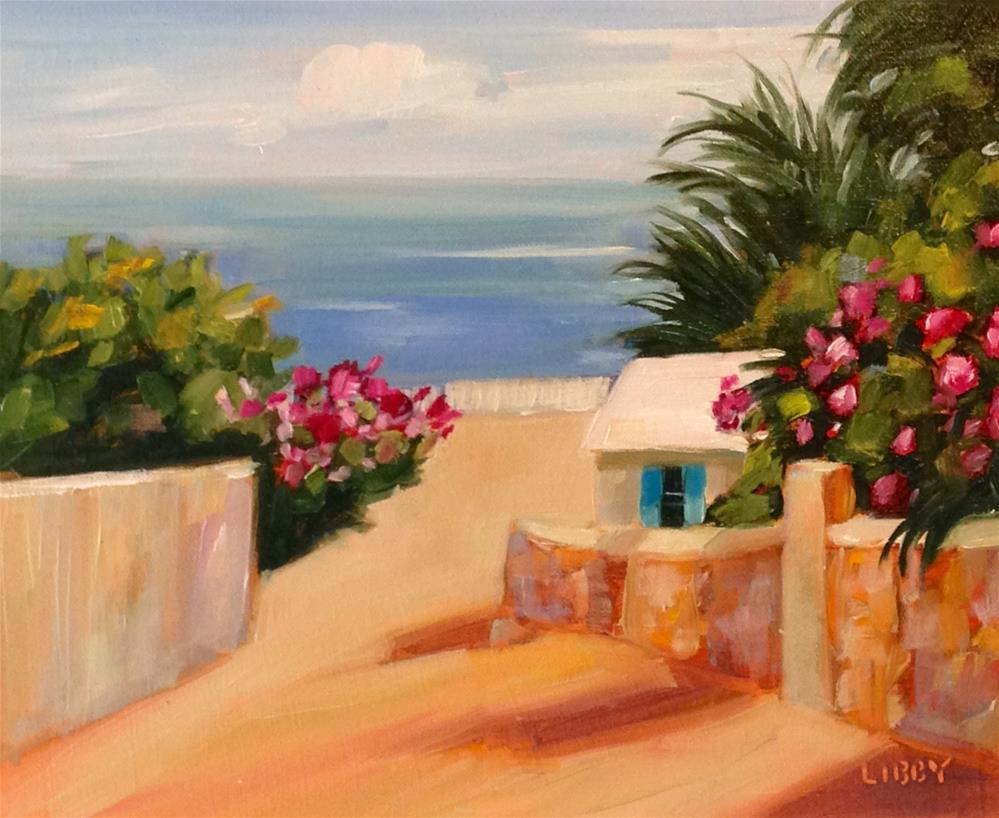 """St. Bart's View"" original fine art by Libby Anderson"
