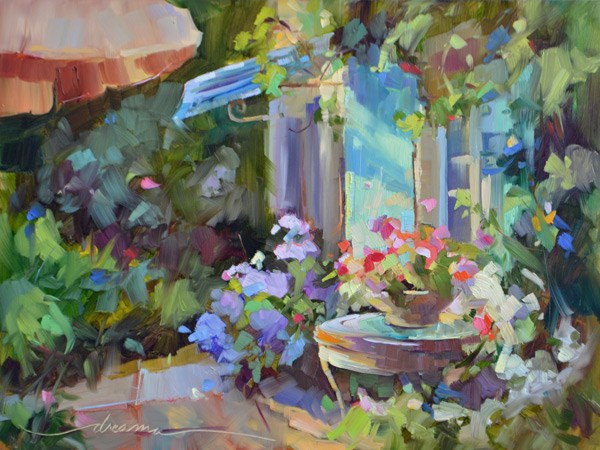 """""""Morning Glory"""" original fine art by Dreama Tolle Perry"""