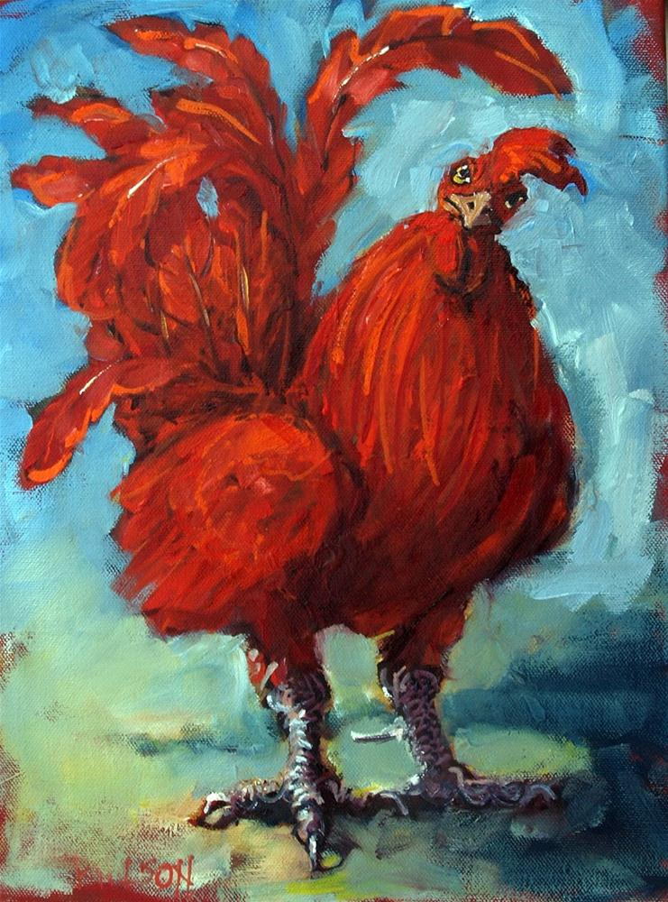 """""""Proud Rooster"""" original fine art by Rick Nilson"""