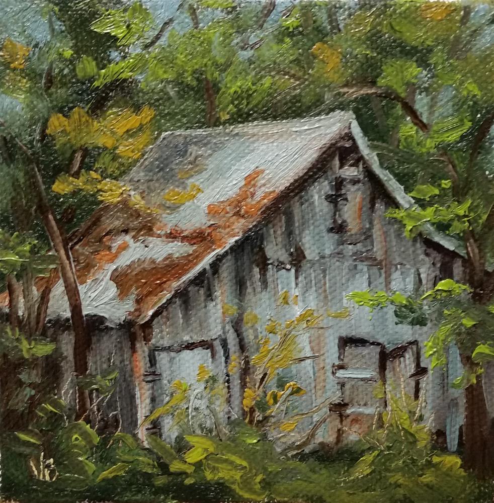 """Hidden Gem-mini painting"" original fine art by Veronica Brown"