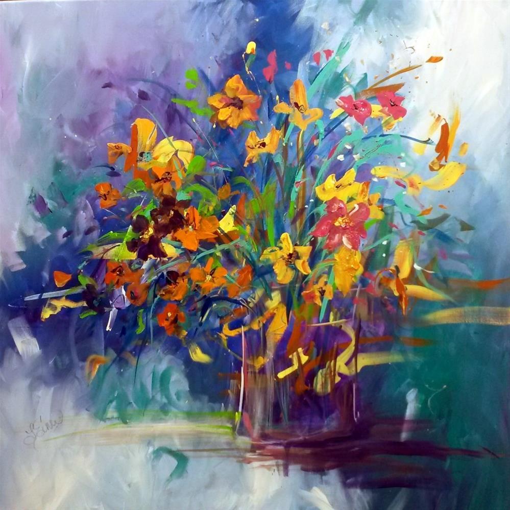 """Wildflowers-Day 18-30 Paintings in 30 Days"" original fine art by Terri Einer"