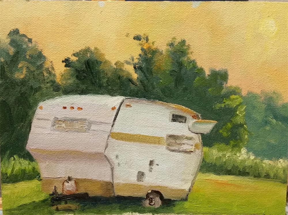 """Shasta at Sunrise-en plein air"" original fine art by Veronica Brown"