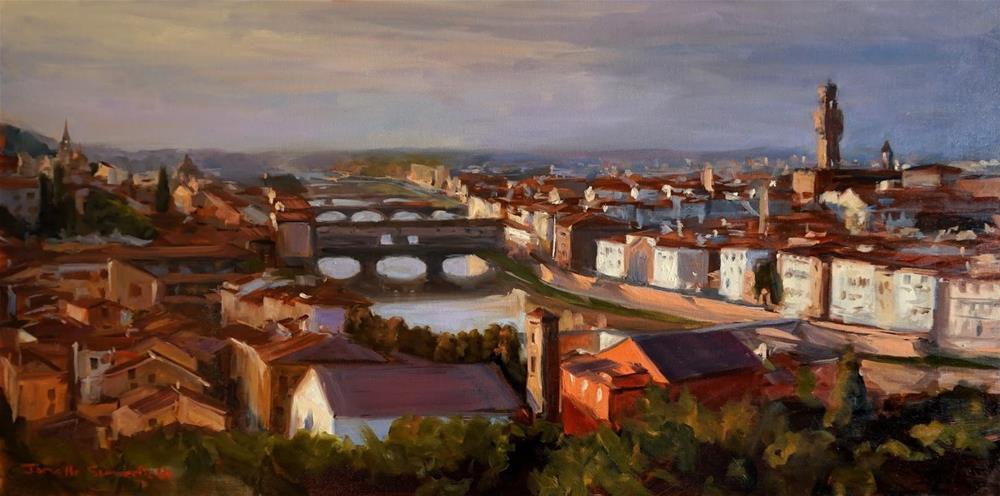 """View of Florence from Piazza Michelangelo"" original fine art by Jonelle Summerfield"