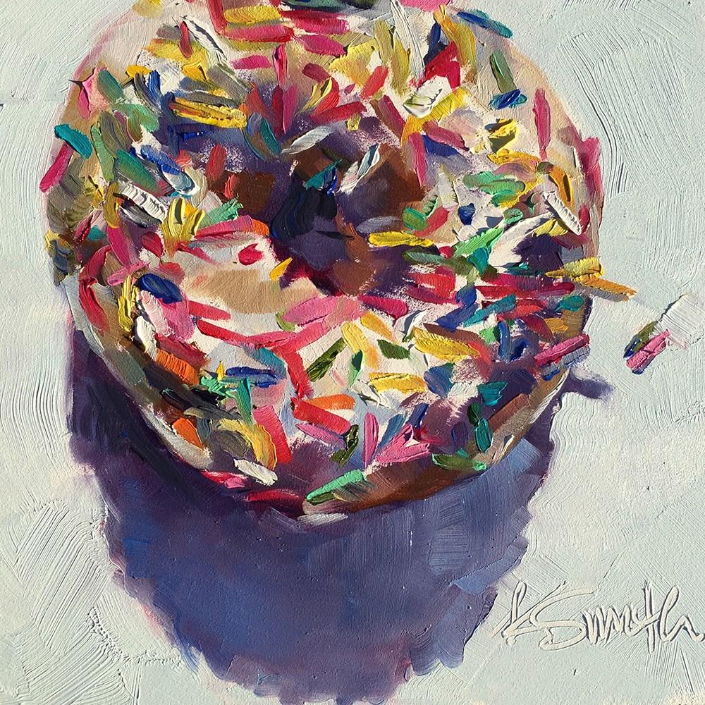 """""""one donut"""" original fine art by Kim Smith"""
