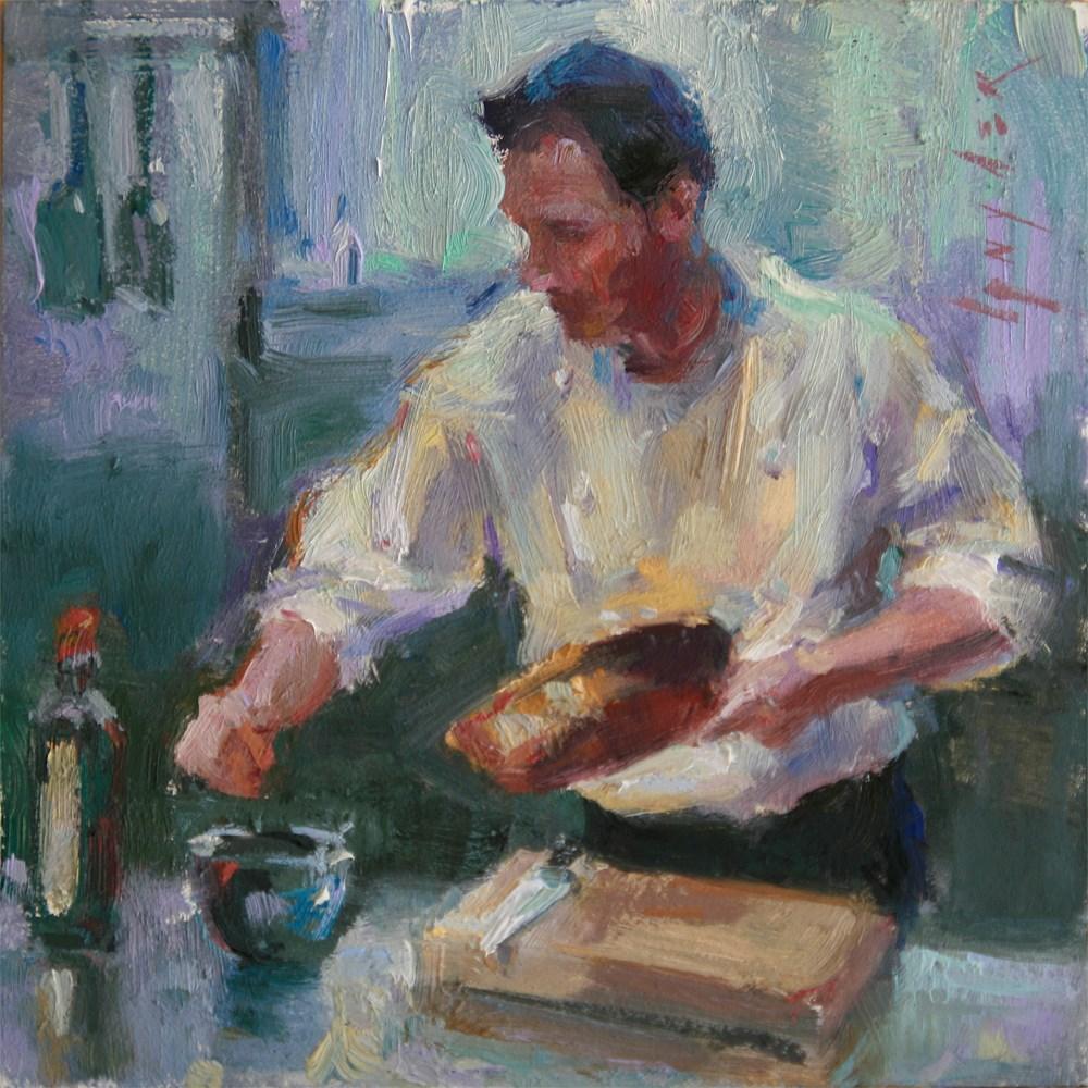 """""""Pinch of Salt"""" original fine art by Julie Snyder"""