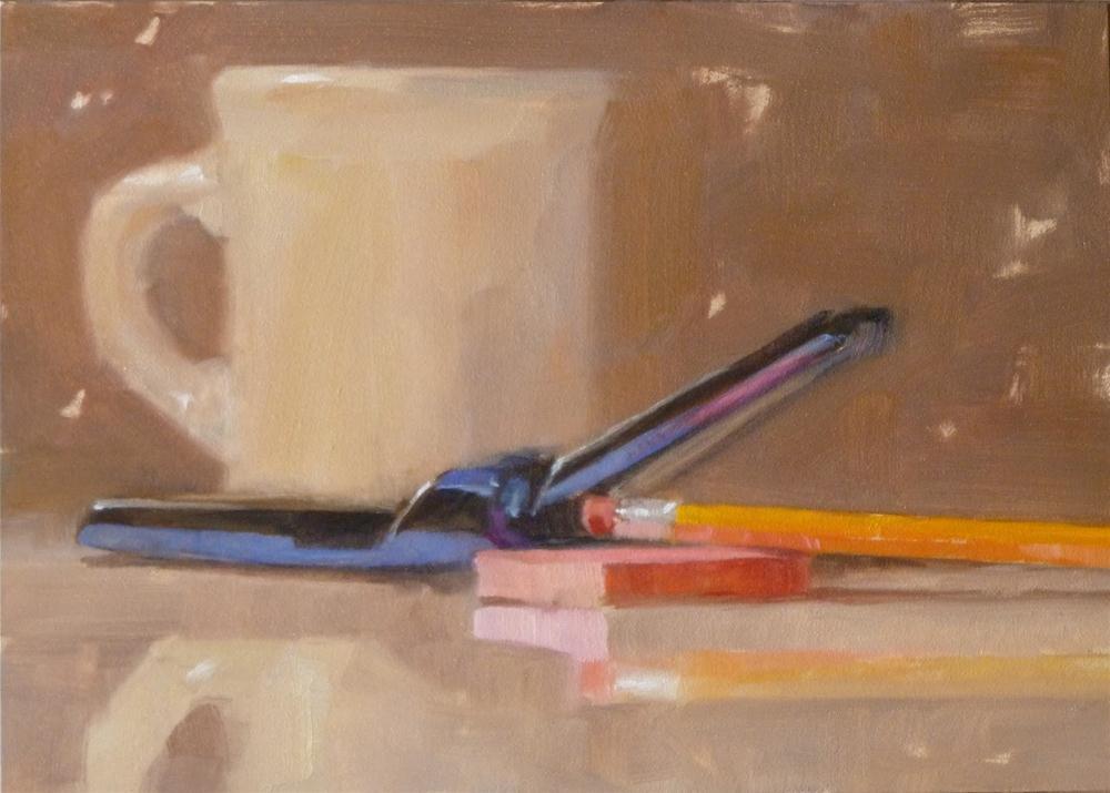 """Morning Calls"" original fine art by Ron Ferkol"