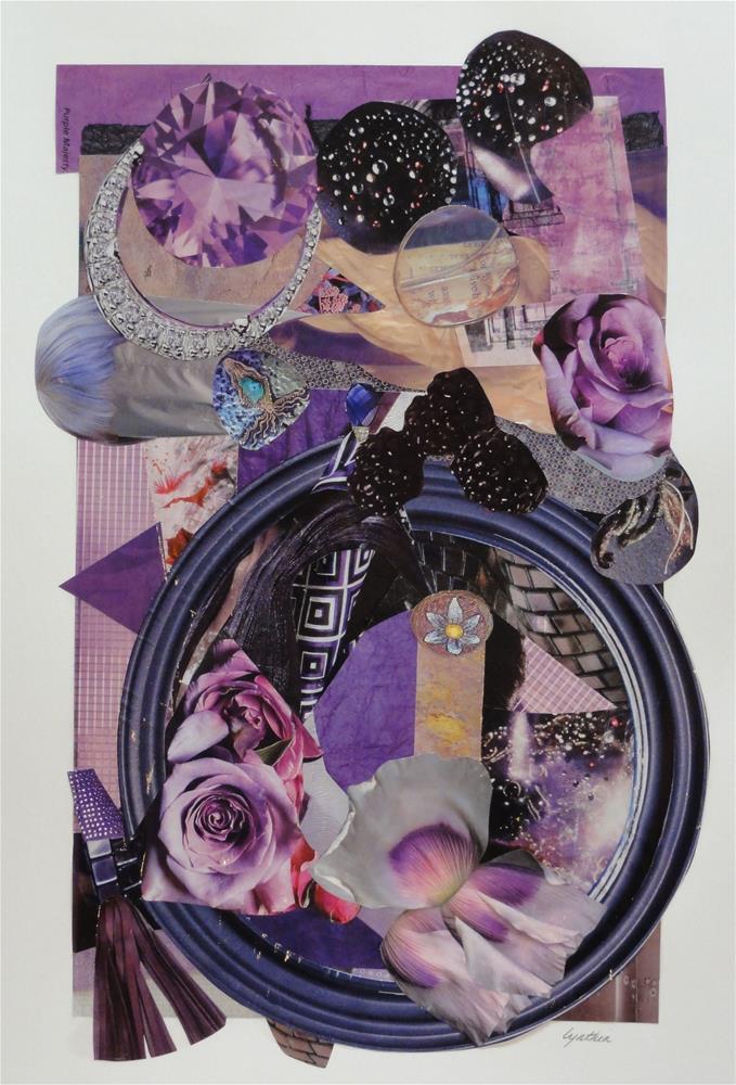 """Color Study:  Purple Majesty"" original fine art by Cynthia Frigon"