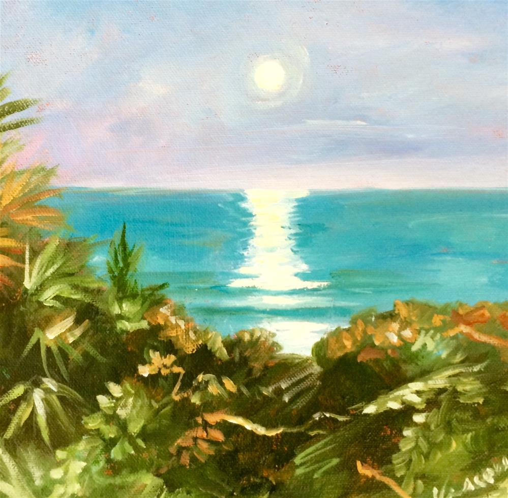"""moonrise"" original fine art by Valerie Vescovi"