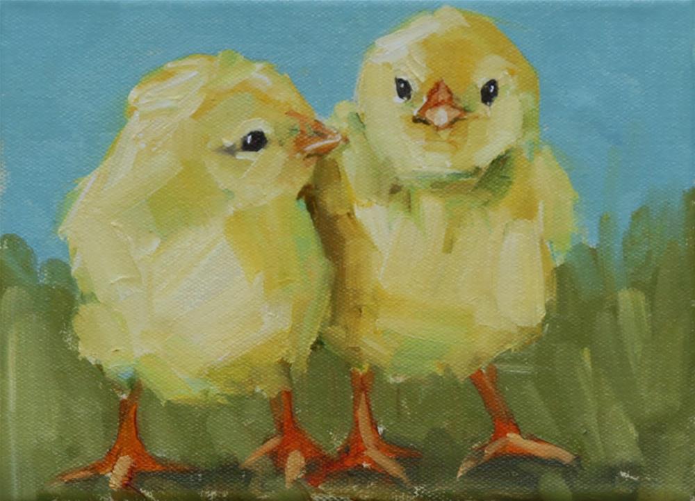 """amigos"" original fine art by Carol Carmichael"