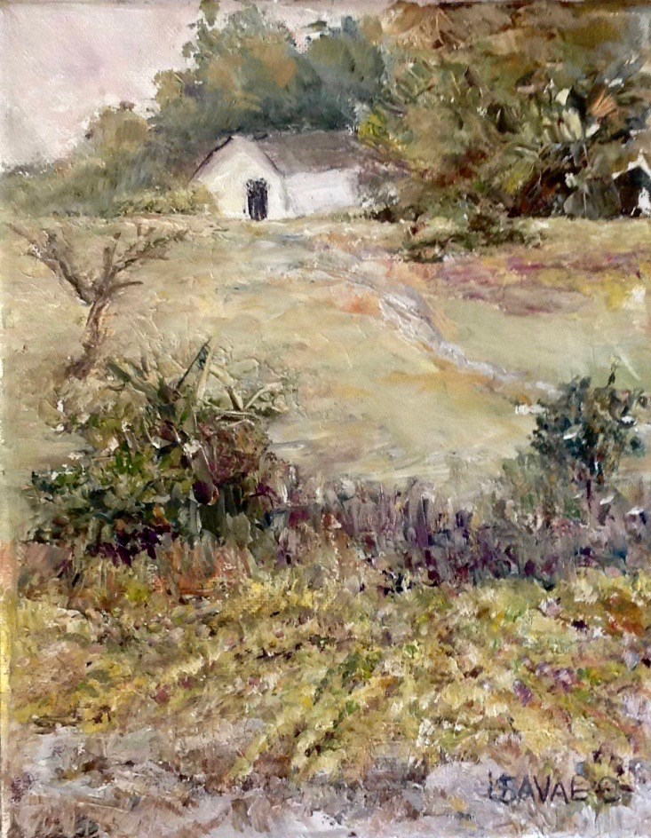 """House on the Hill"" original fine art by Judy Usavage"