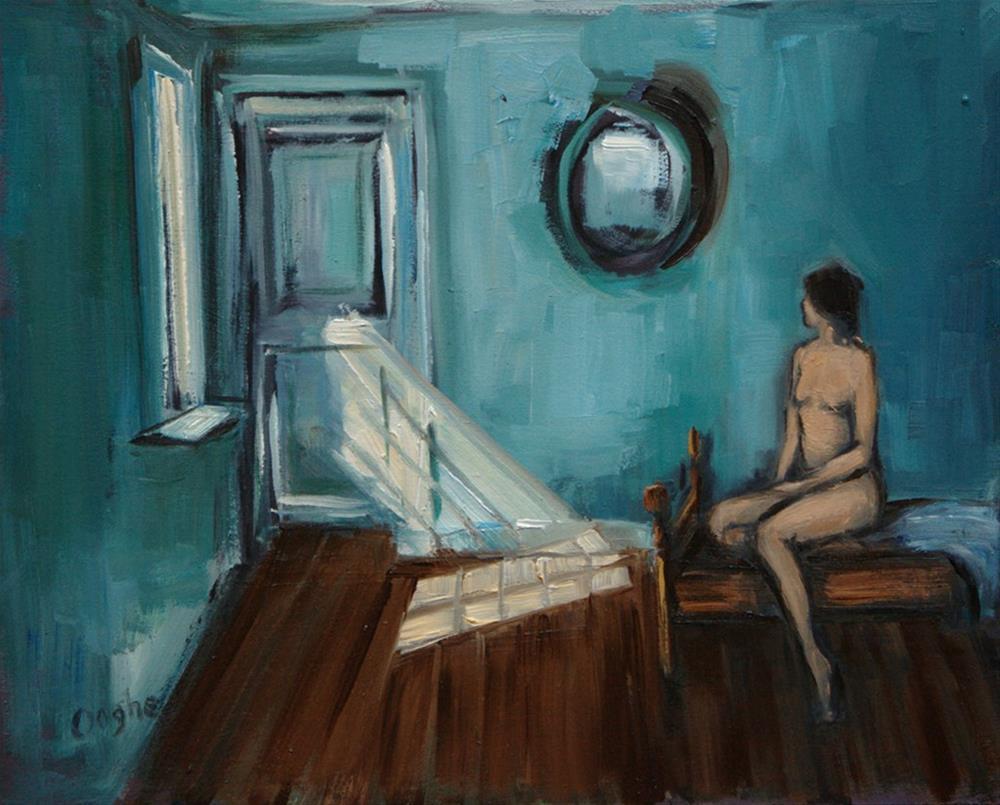 """Nude and Sunbeam"" original fine art by Angela Ooghe"