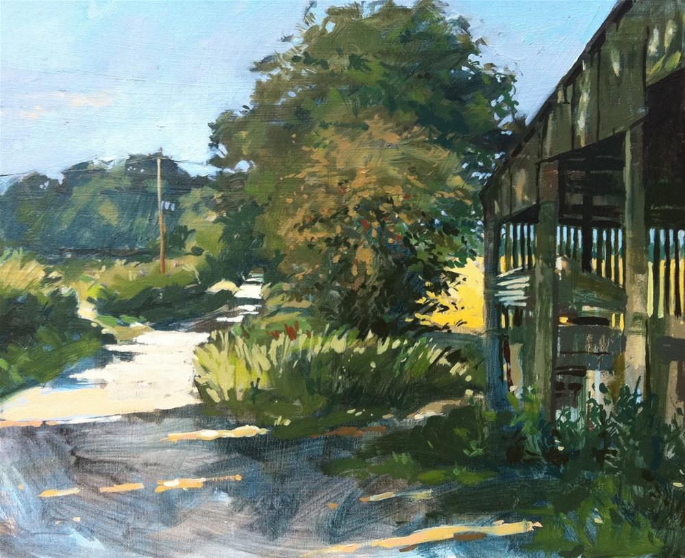 """Late summer, North heath lane"" original fine art by Haidee-Jo Summers ROI"
