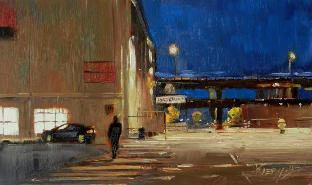 """""""To the Waterfront Seattle city oil painting by Robin Weiss"""" original fine art by Robin Weiss"""