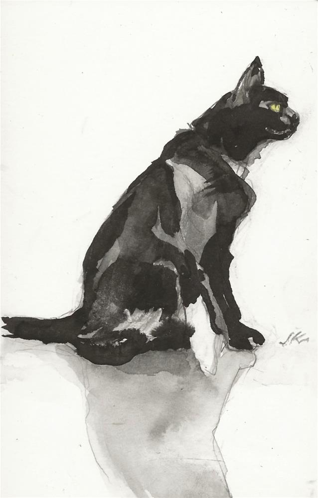 """Daily Cat 184"" original fine art by Jean Krueger"