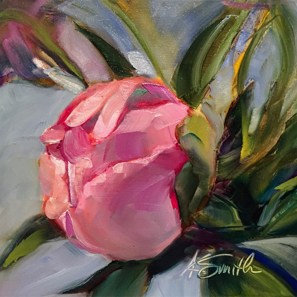 """""""peony"""" original fine art by Kim Smith"""