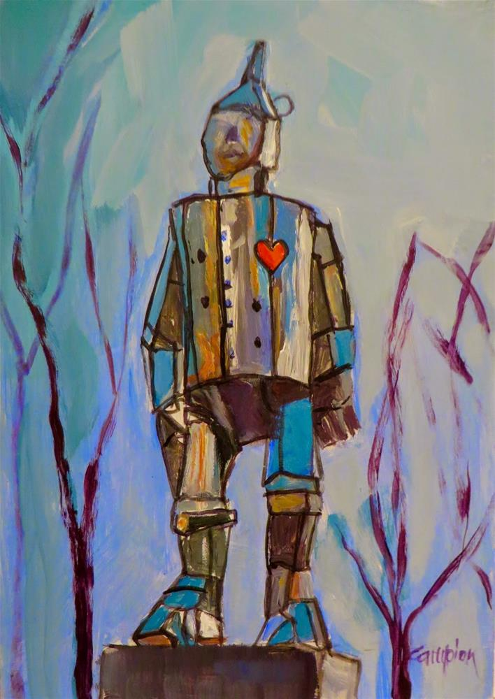 """If I Only Had a Heart"" original fine art by Diane Campion"