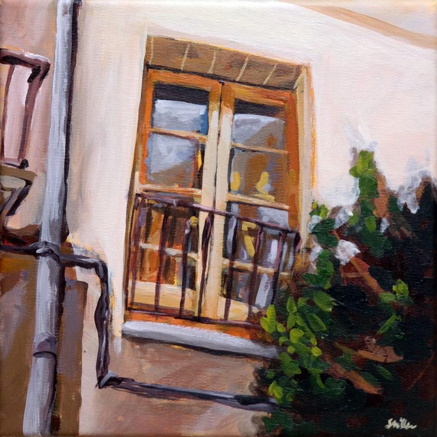 """1078 Close the Window!"" original fine art by Dietmar Stiller"