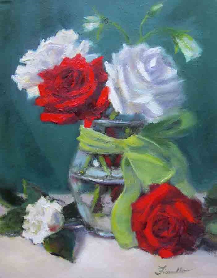 """""""Red or white?"""" original fine art by Pat Fiorello"""