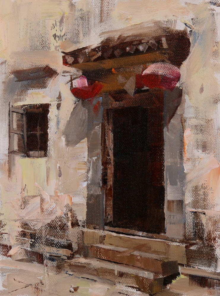 """Plein Air at Pingshan"" original fine art by Qiang Huang"