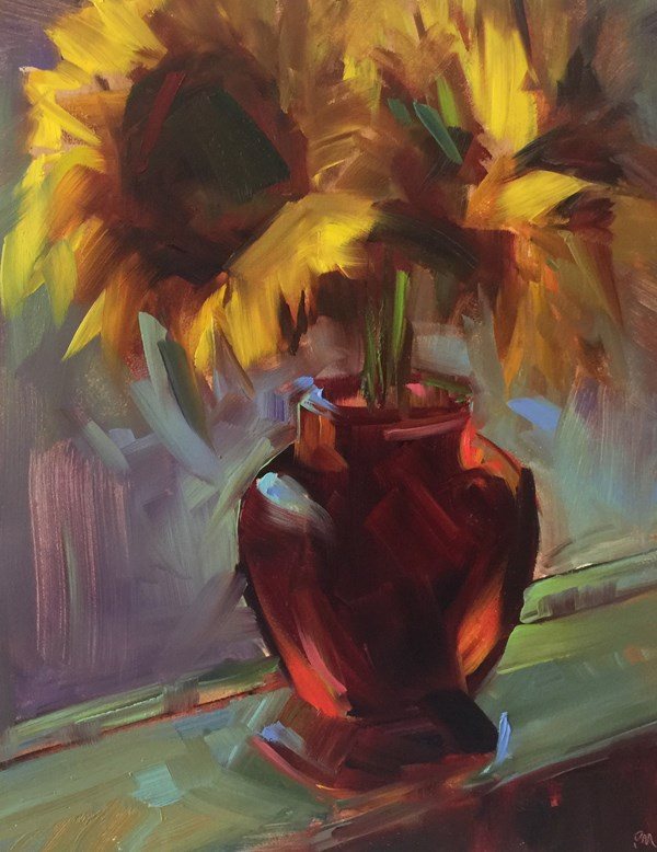 """All About the Vase"" original fine art by Patti McNutt"