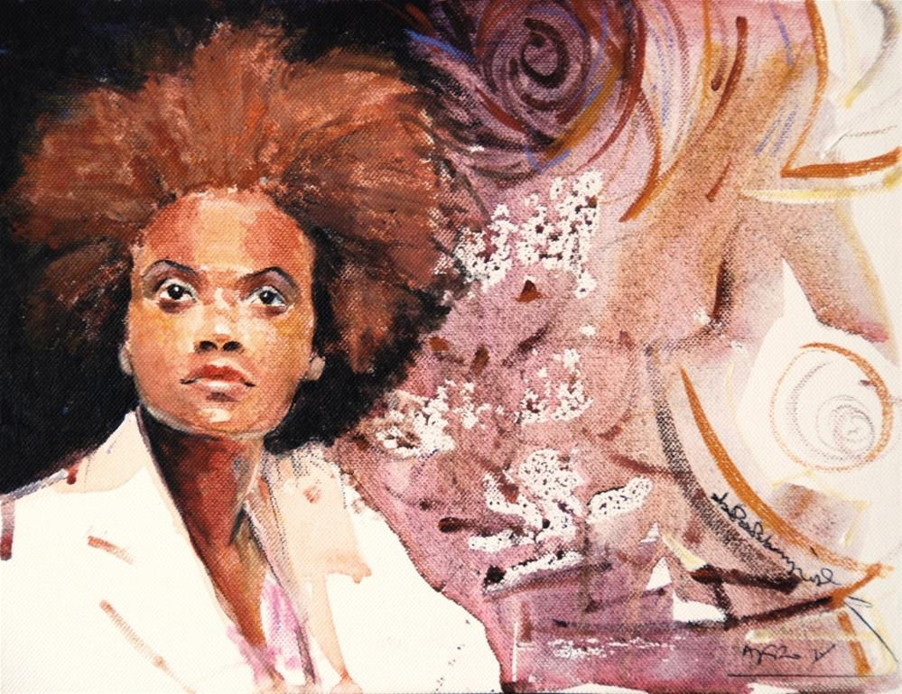 """AFRO 5"" original fine art by Adebanji Alade"