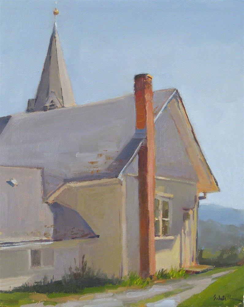 """The Old White Church"" original fine art by Sarah Sedwick"