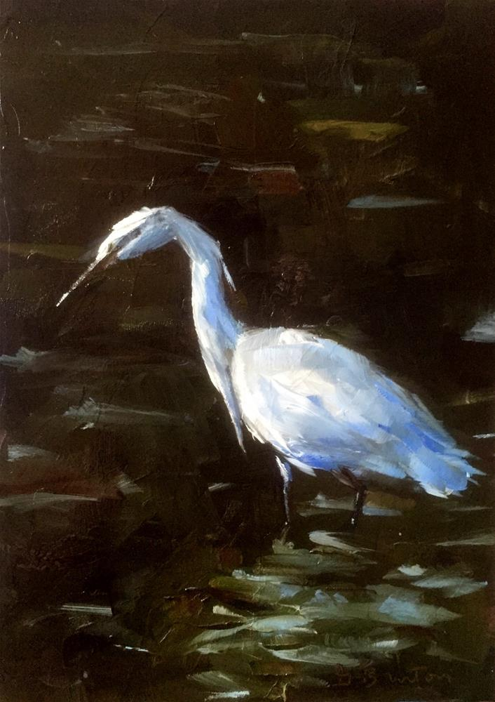 """Egret"" original fine art by Gary Bruton"