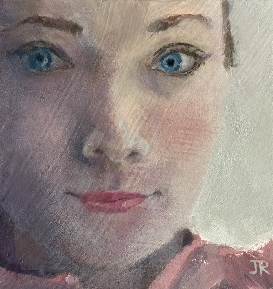 """Blue"" original fine art by June Rollins"