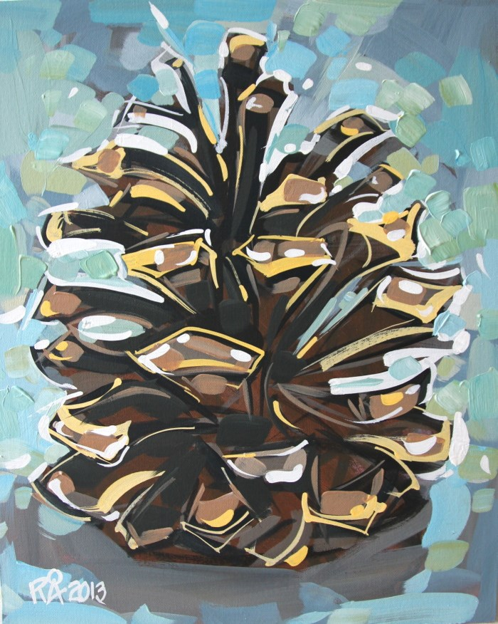 """Pine Cone Abstraction 1"" original fine art by Roger Akesson"