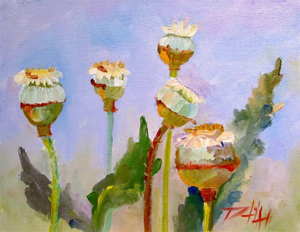 """Poppy Pods"" original fine art by Delilah Smith"