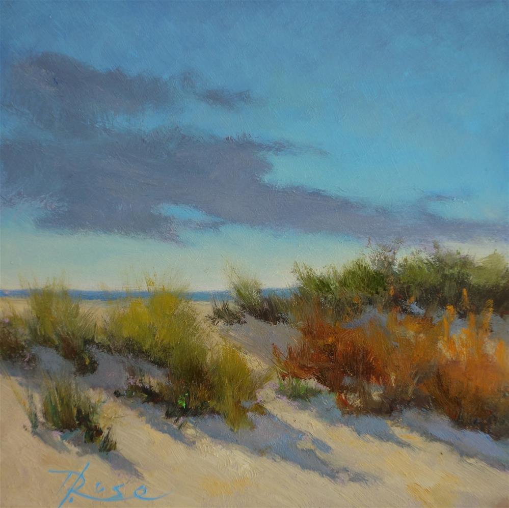 """""""beach 4 PM"""" original fine art by Howard Rose"""