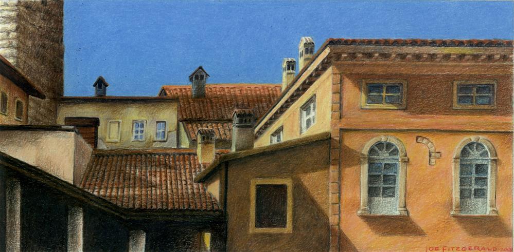 """Bergamo"" original fine art by Joe Fitzgerald"
