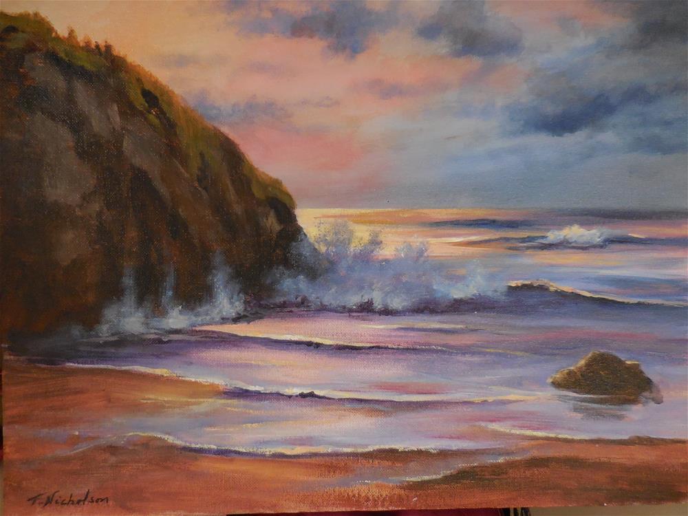 """Sunset"" original fine art by Terri Nicholson"