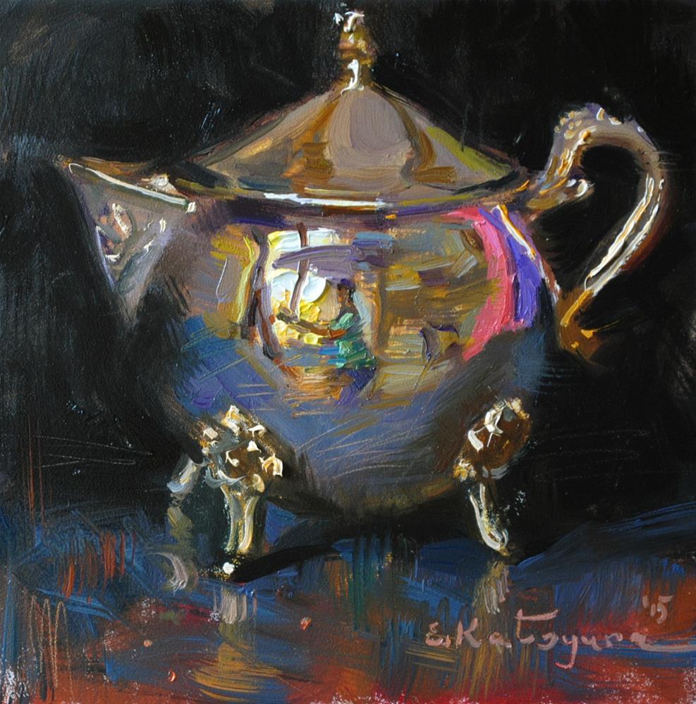 """Silver on Black"" original fine art by Elena Katsyura"
