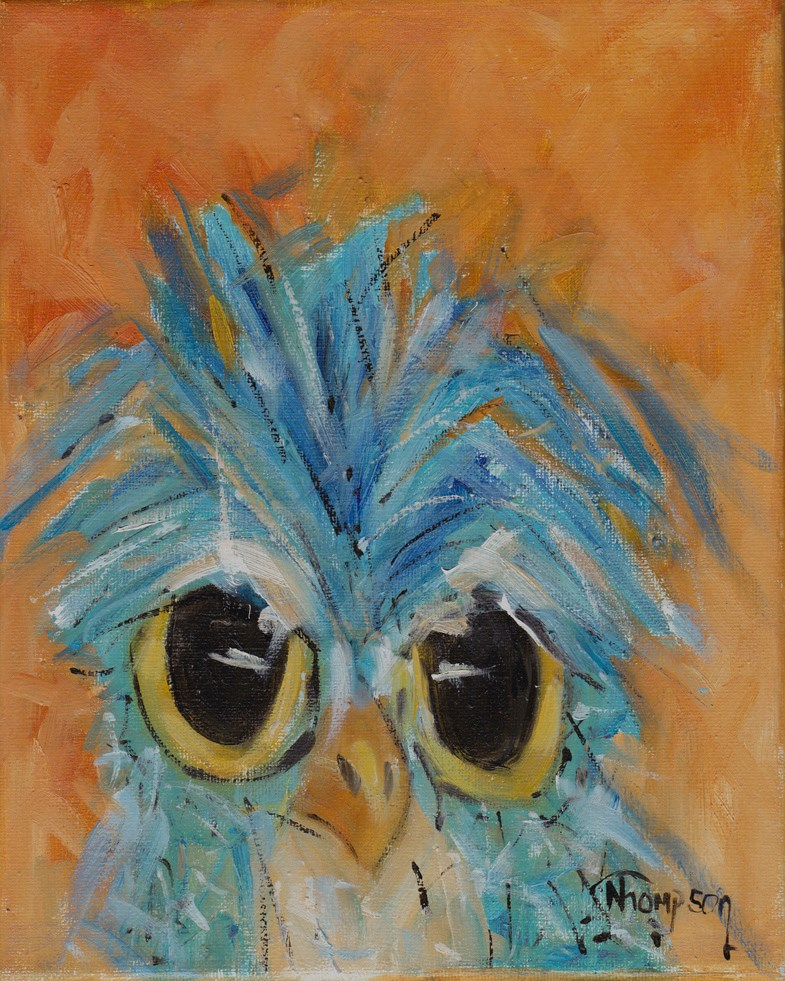 """Hoo Owl"" original fine art by Norma Thompson"