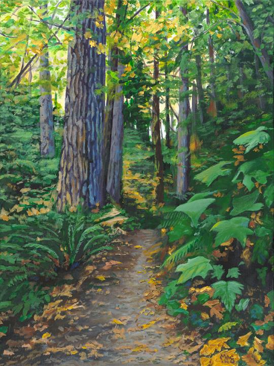 """Portland Pathway"" original fine art by John F McGowan"