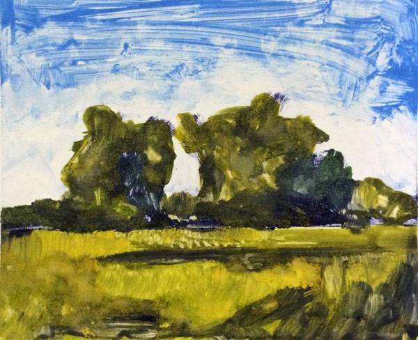 """Fall Pecan Grove"" original fine art by Mary Gilkerson"