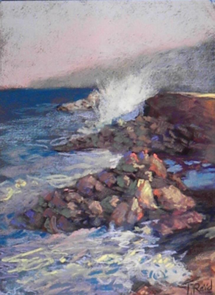 """""""Rocky mist"""" original fine art by Toby Reid"""