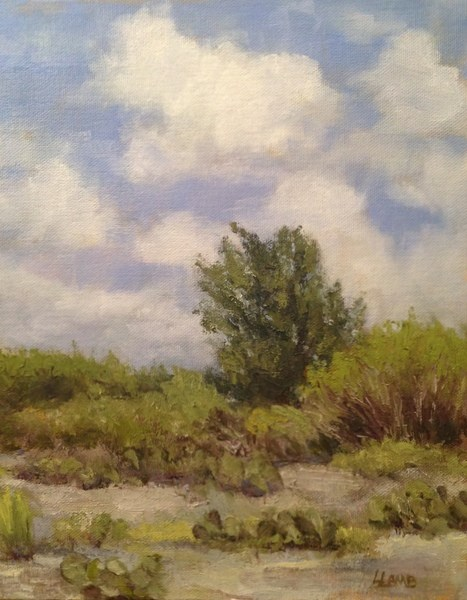 """Hill Country View"" original fine art by Lori L. Lamb"