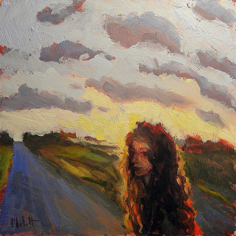 """Contemporary Impressionism Sunset Crowning Figure Painting"" original fine art by Heidi Malott"