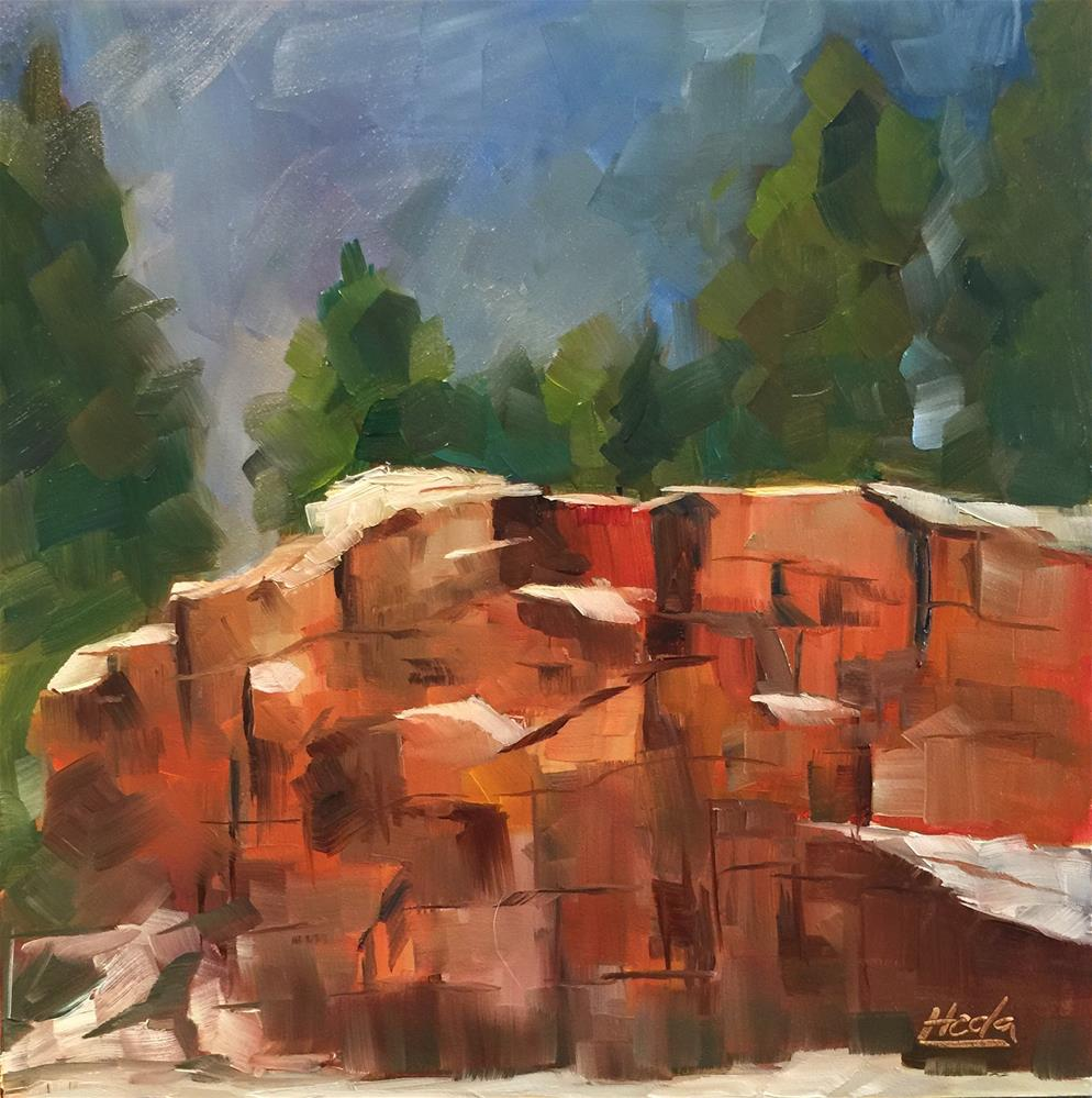 """Rock Study"" original fine art by Hoda Nicholas"